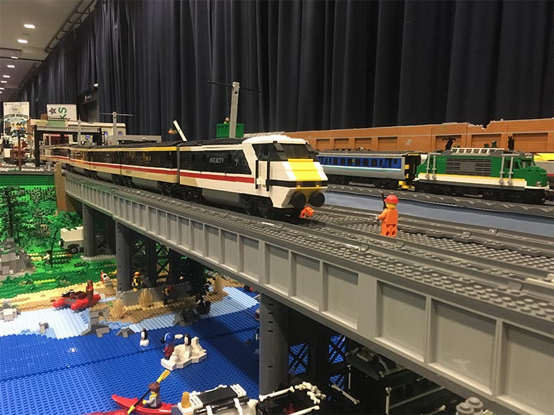 LEGO model of Intercity 225 carriages