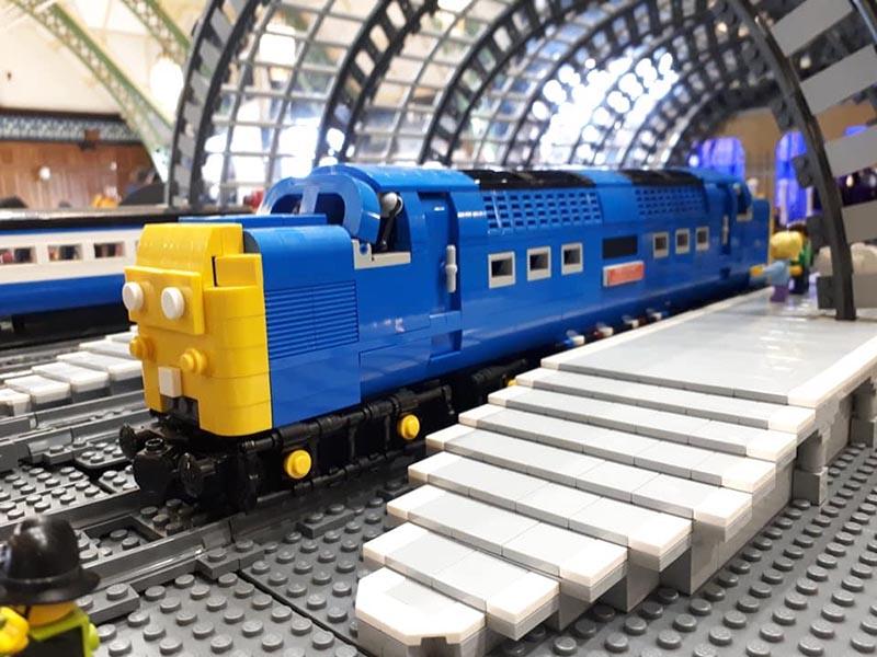 LEGO model of Deltic Class 55