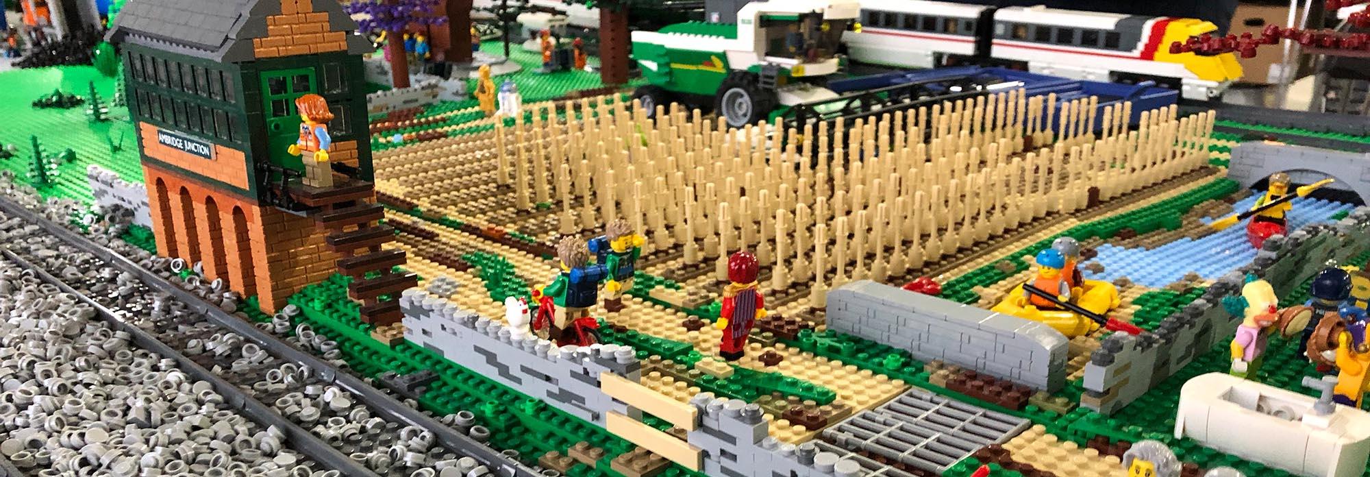 LEGO railway model landscapes