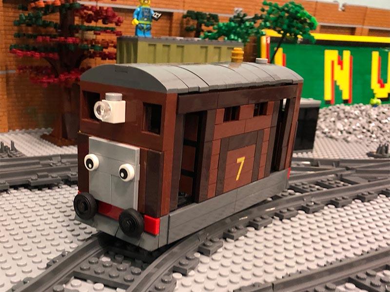 LEGO model of Toby The Tram