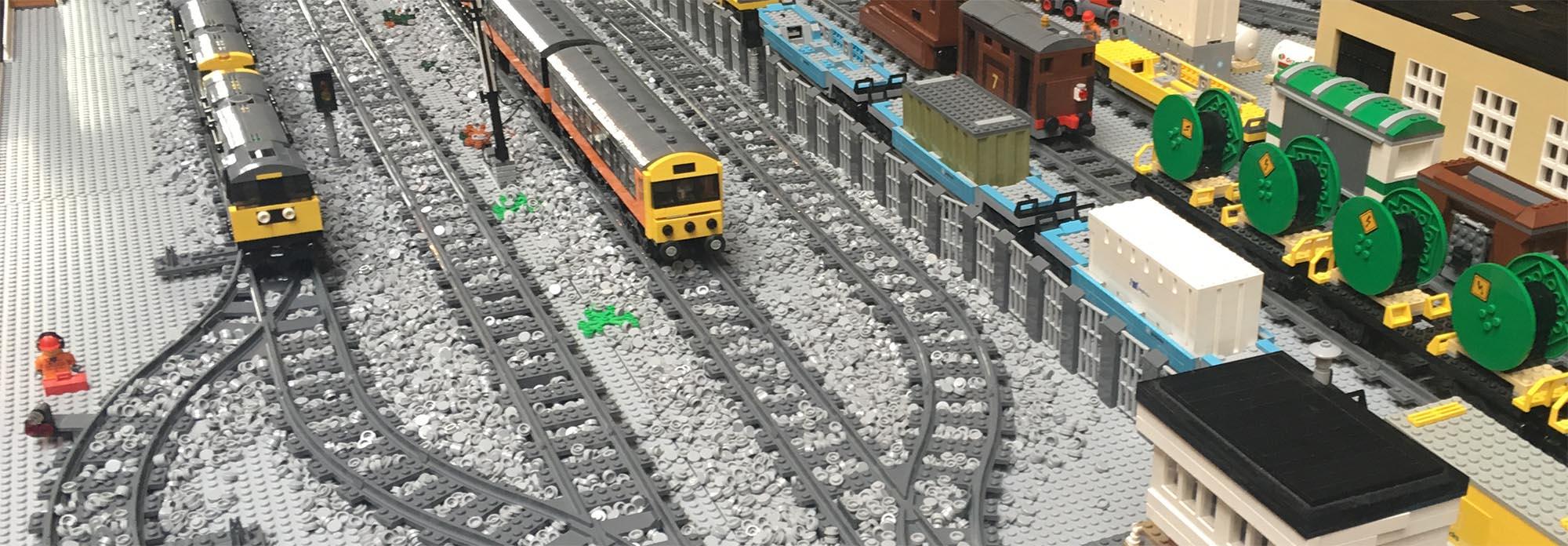 LEGO locomotive models by LNUR members