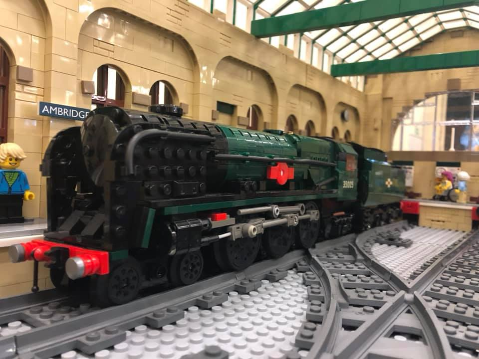 LEGO model of Southern Railway Bulleid Merchant Navy Class -