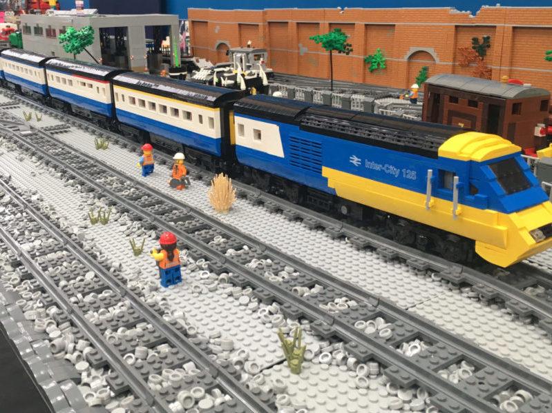 LEGO model of Mark 3 coaches
