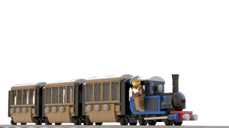 LEGO model of Narrow gauge LEGO train
