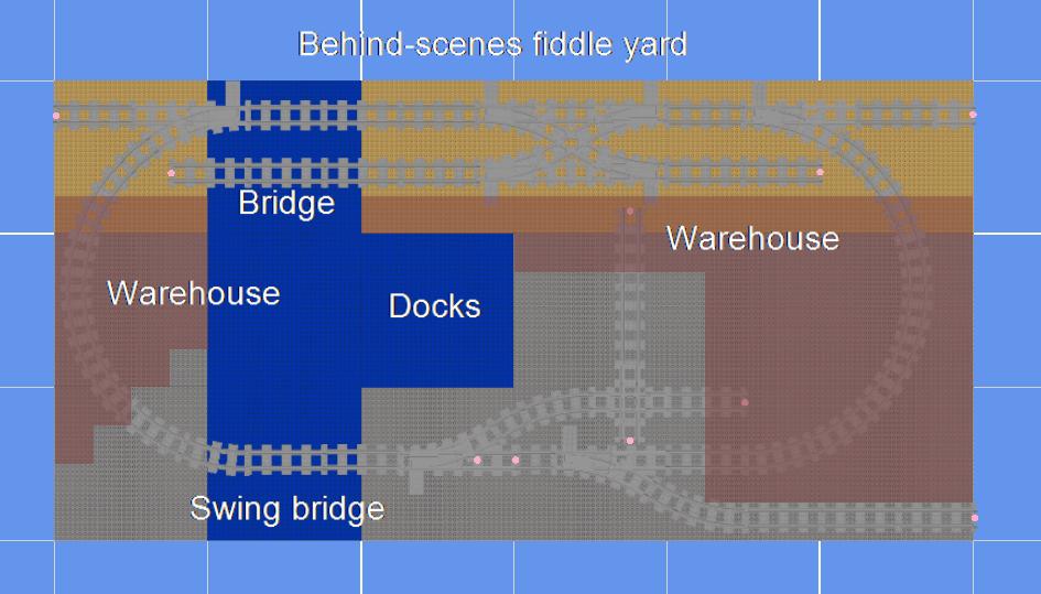 Track plan for Penny Hassett LEGO narrow gauge railway