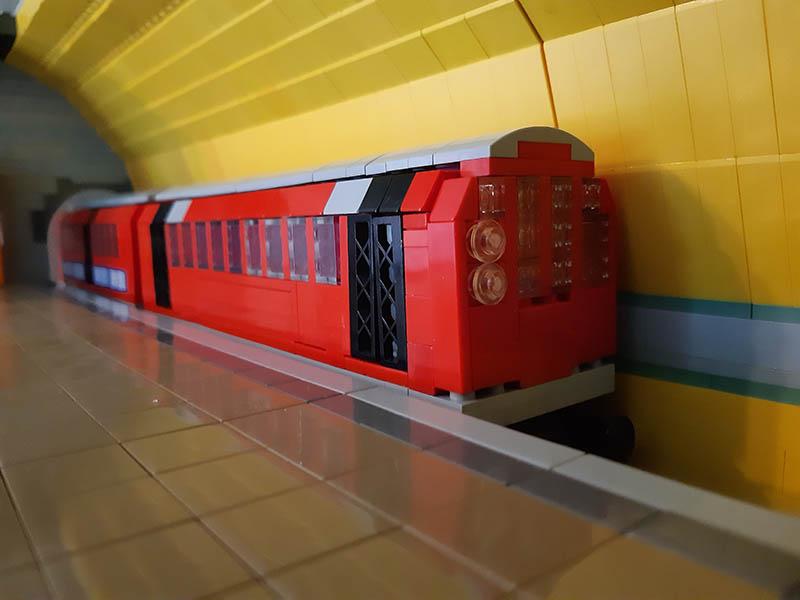 LEGO model of Glasgow Subway