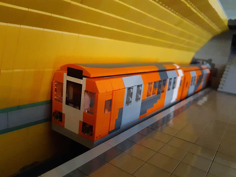 LEGO model of Metro Cammell unit
